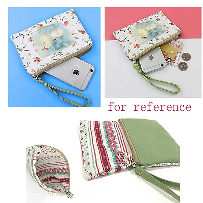 Patrón de dibujos animados bolso de móvil bolso de embrague bolso simple portátil, Gatos encantadores: Amazon.es: Oficina y papelería