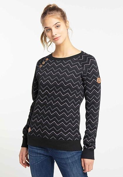 Ragwear Sweatshirt Damen DARIA 2021-30004 Schwarz Black 1010