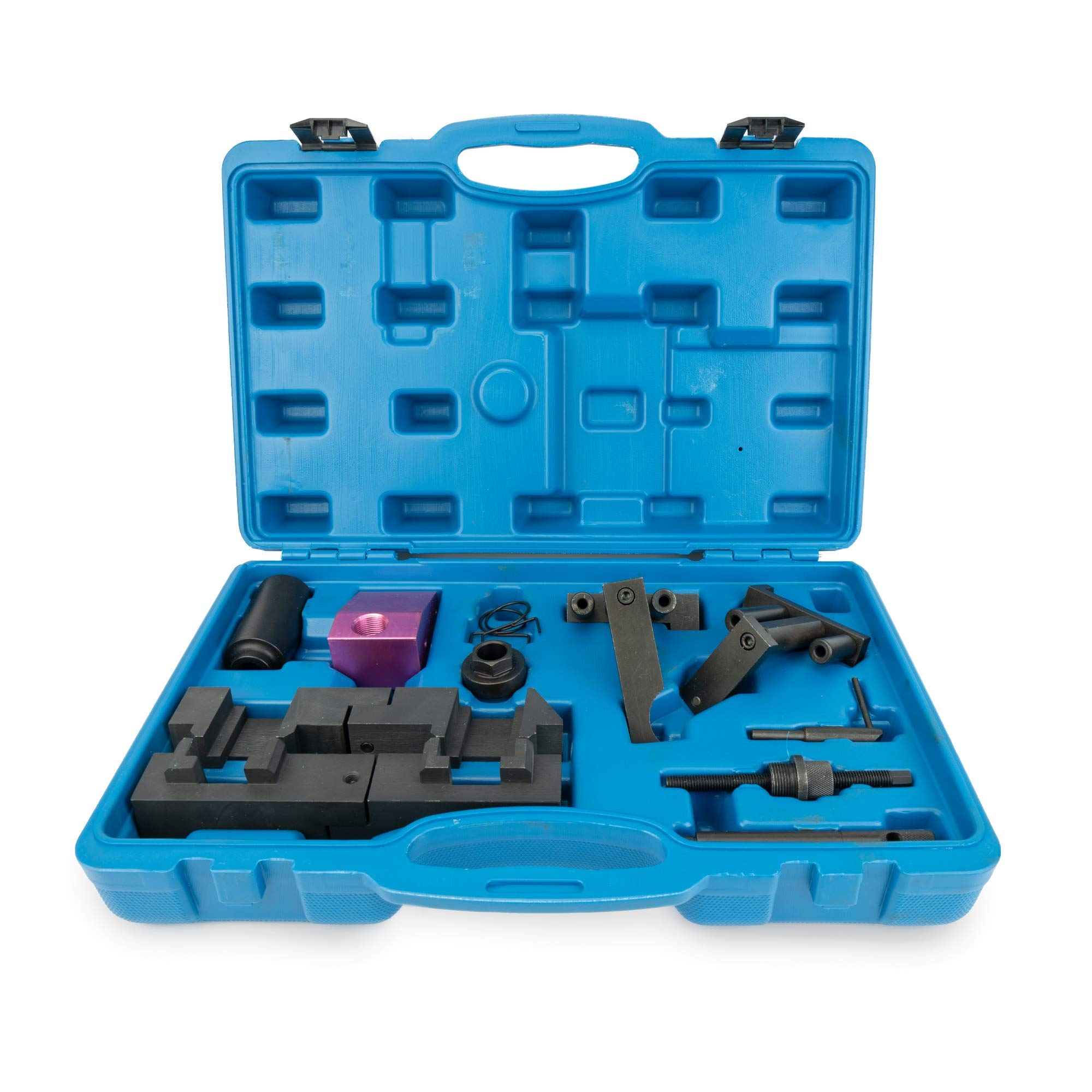 Variable Valve Timing Locking Tool Kit - Compatible With BMW M60, M62 Engines - VANOS Electromagnetic Valve Camshaft Alignment - Pin, Tensioner, Socket, Trestle, Fixture, Locking Tool & Springs by Delray Auto Parts (Image #1)