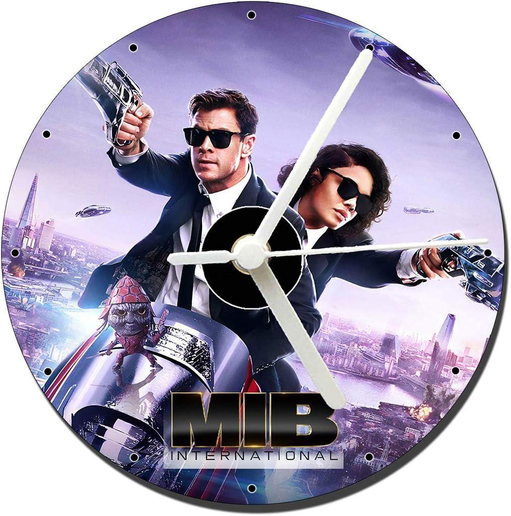 MasTazas Men In Black International Tessa Thompson Chris Hemsworth Reloj CD Clock 12cm