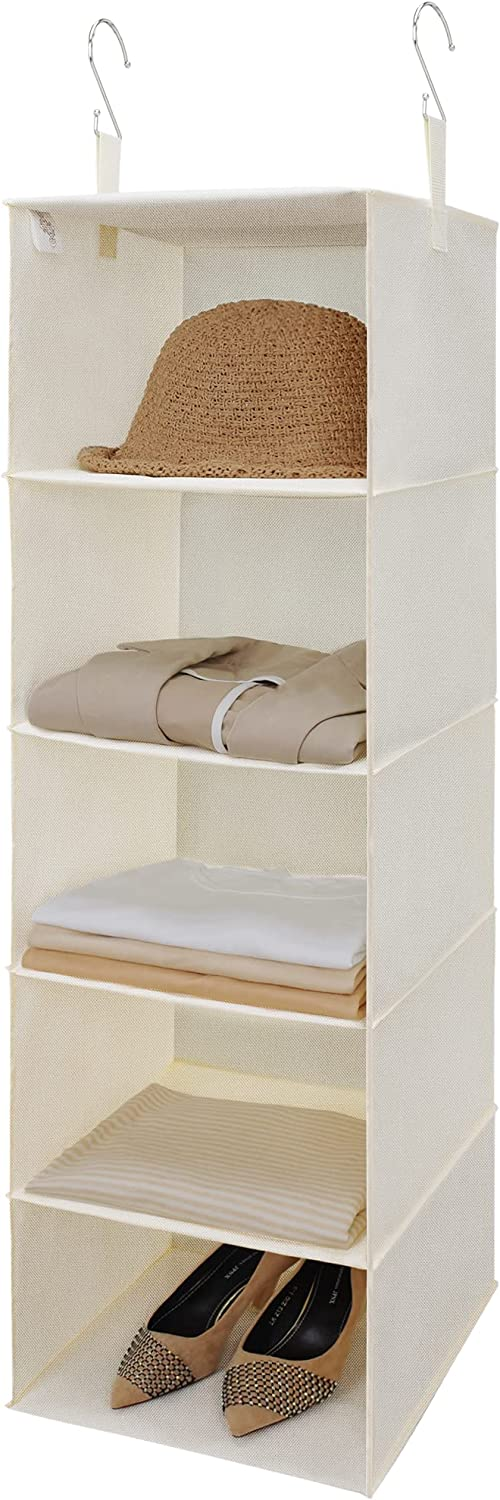 GRANNY SAYS Bargain sale 5-Shelf Hanging We OFFer at cheap prices Closet Shelves Organizer fo