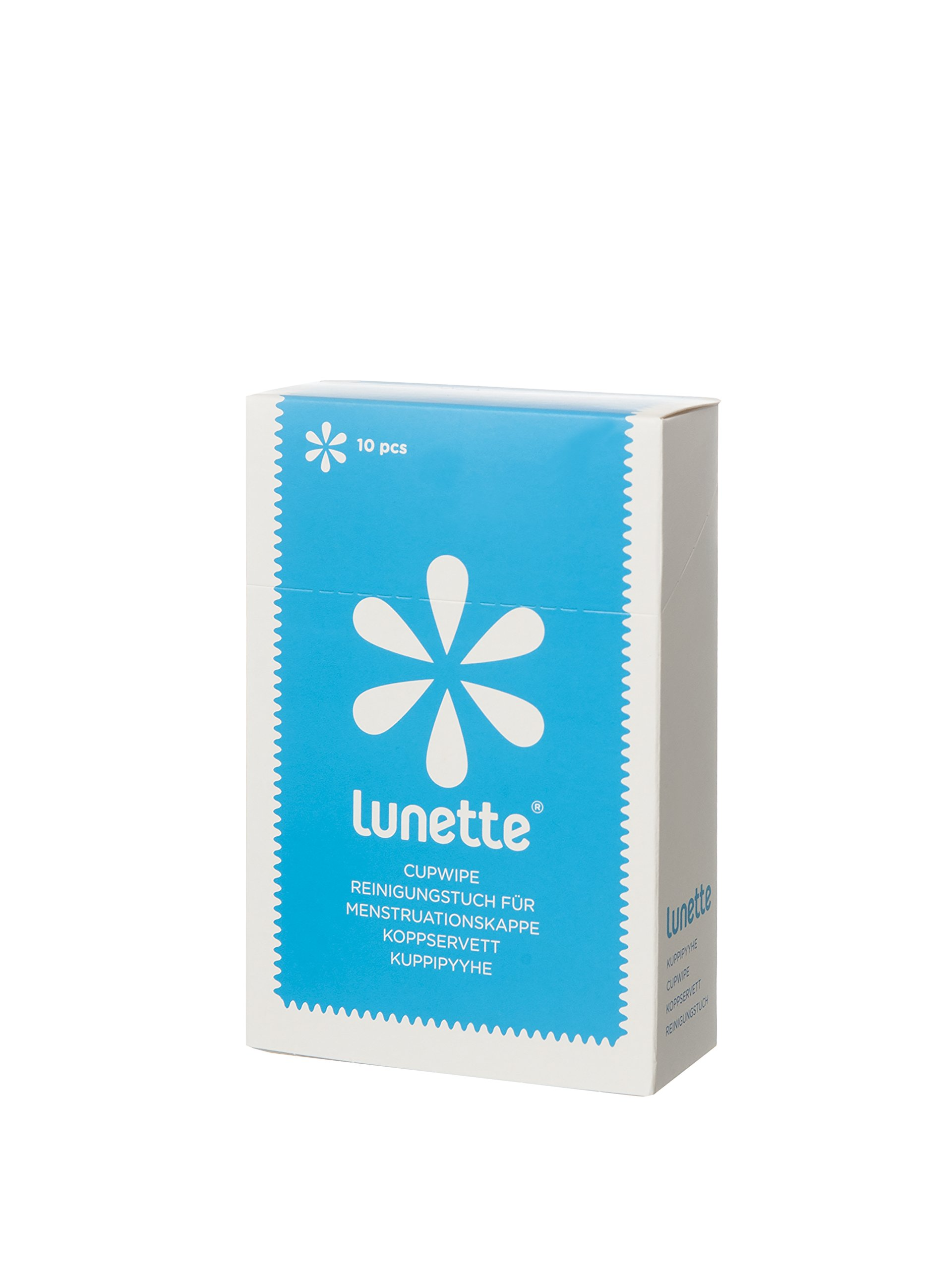 Lunette Cup Wipes (Portable - Compostable - Disinfecting), 10 count