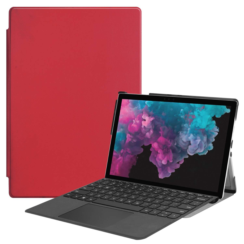 早い者勝ち プレミアム三つ折りケース Microsoft Surface Pro Pro Pro 6/ Pro (第5世代) 5/ Pro 4用 Gylint スリムフィット レザー スマートケースカバー Microsoft Surface Pro 6/ Surface Pro (第5世代)/ Surface Pro 4用 レッド B07KRXZCV7, へんじんもっこ:fbdd88fc --- a0267596.xsph.ru