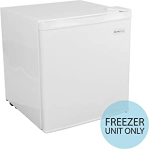 Alaska Energy Efficient Silent Freezer ONLY, Single Reversible Door 7-Level Adjustable Temp. & Removable Shelf 1.1 CU FT Capacity for Office/Home/Dorm/Garage (White)