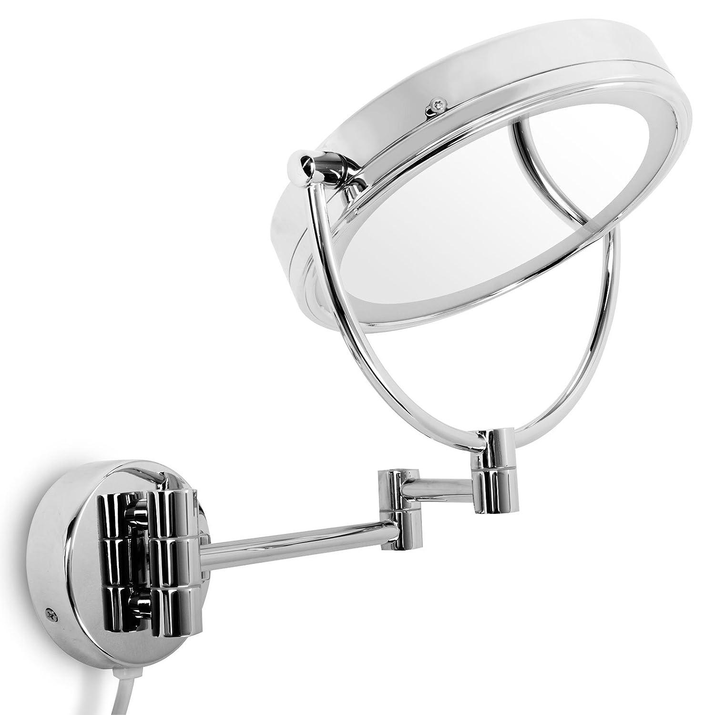 Super casa pura® Kosmetikspiegel für die Wandmontage | mit LED  TN33