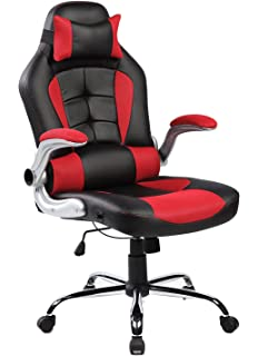 Amazing Merax High Back Ergonomic Pu Leather Office Chair Racing Style Swivel Chair Computer Desk Lumbar
