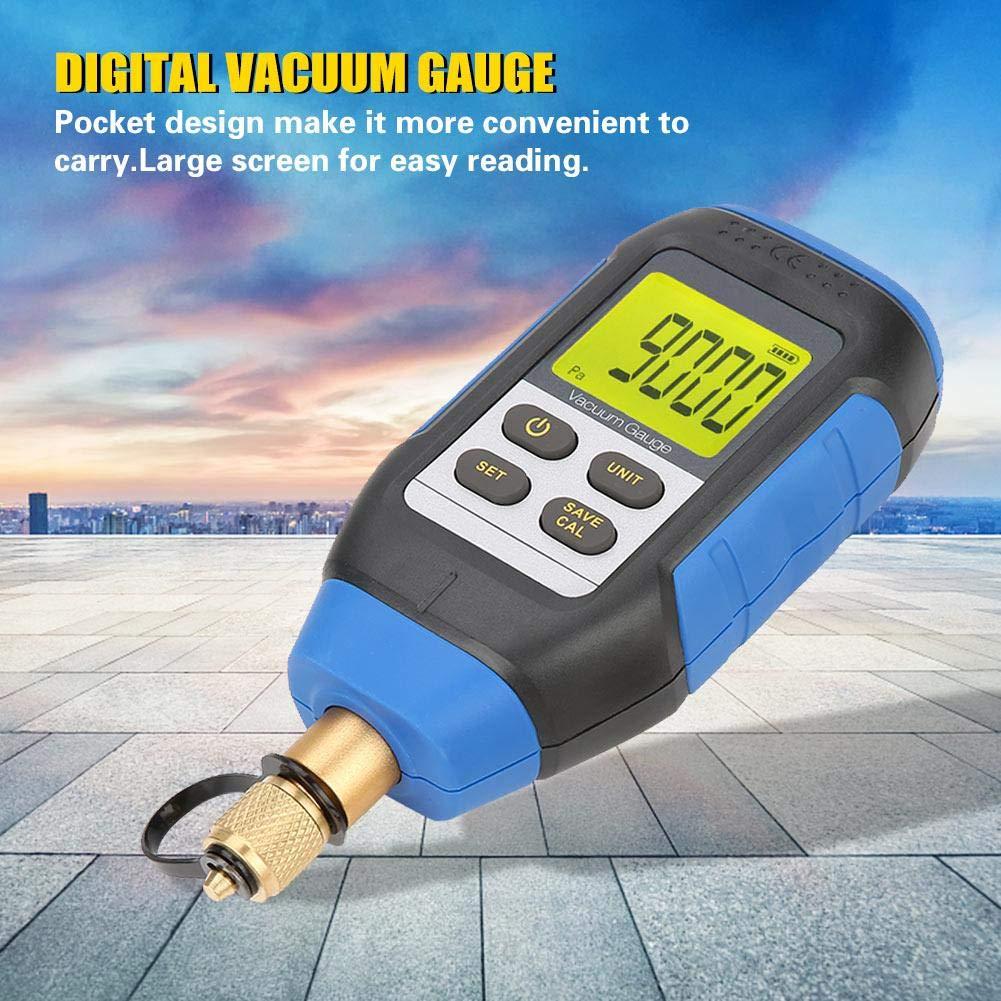 Digital Vacuum Gauge,High Precision Digital Vacuum Gauge VMV-1 Vacuum Gauge for Atmospheric Environment 0-50/°C