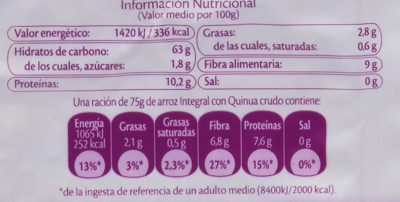 SOS Arroz Integral Con Quinoa + 4 Cereales - 500 g: Amazon.es: Amazon Pantry