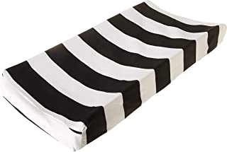 product image for Glenna Jean Apollo Changing Pad Cover Stripe, Black/White, Standard
