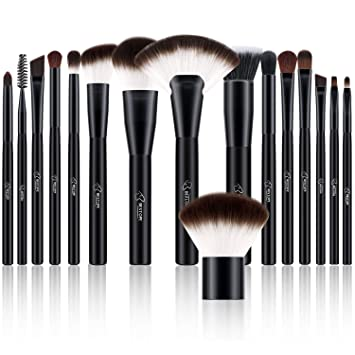 d2613ebf4d5e BESTOPE Makeup Brushes Set 16 PCs Cosmetic Blush Brushes Premium Synthetic  for Foundation...