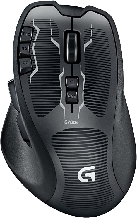 Logitech G700 Black 13 Buttons Tilt Wheel USB RF Wireless Laser Gaming Mouse