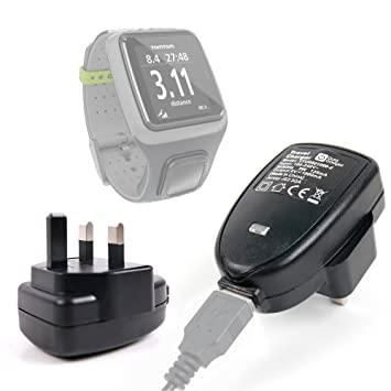 DURAGADGET 3 pin/Home/de corriente con adaptador de pared y cargador - Compatible