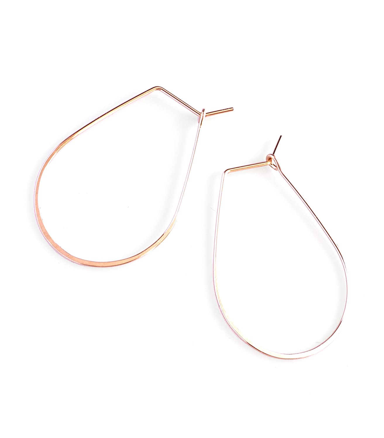 April Soderstrom Featherweight Pear Hoop Small
