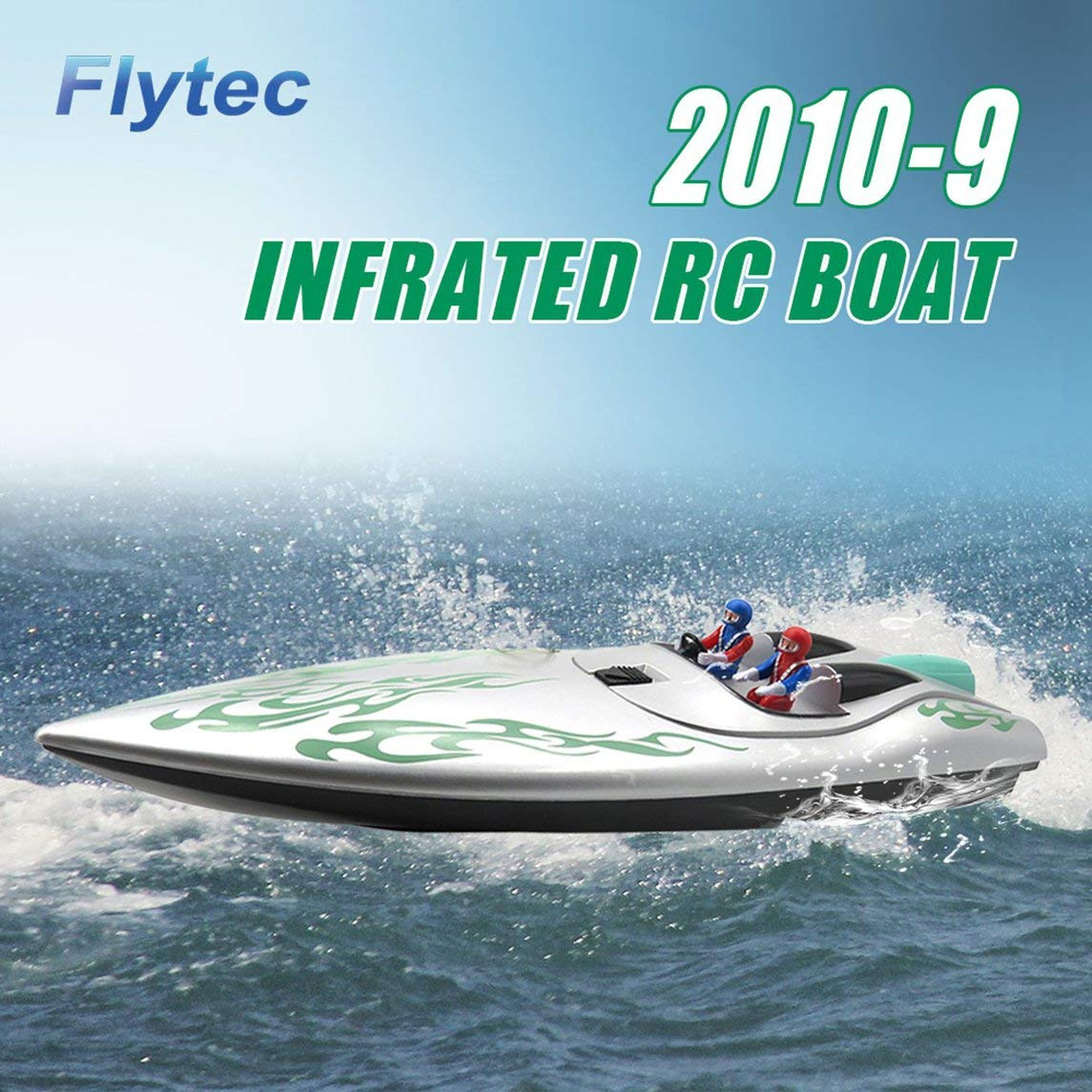Footprintse Barco RC;Barcos RC Toda la Nave de Control Remoto de navegación lancha Modelo Color: Plata