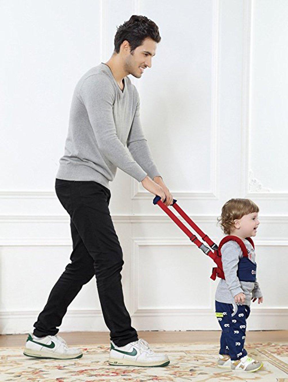 ZEAMO Handheld Baby Walker Toddler Walking Helper Safety Harnesses Learning Assistant Blue