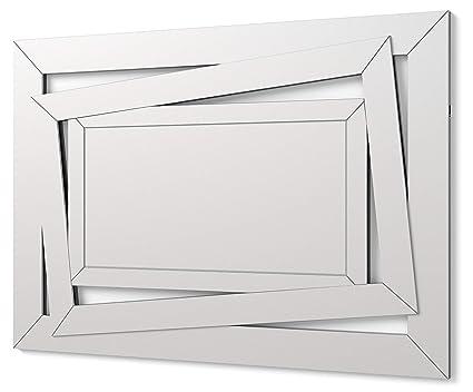 DEKOARTE E034 - Specchio Moderno da Parete Decorativo con Forma ...