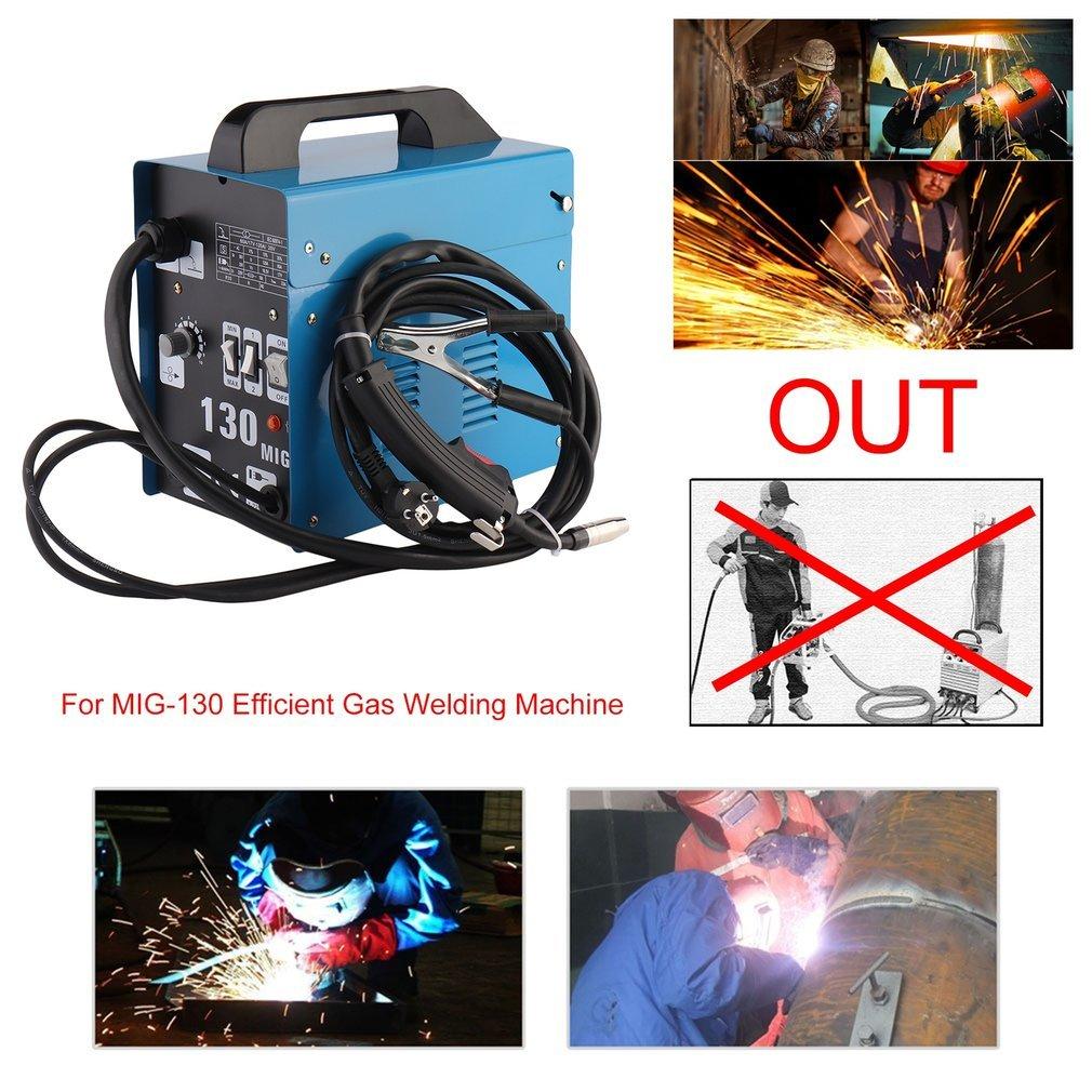 bingh otfire Mig de 130 ac soldar sudor dispositivo Río Núcleo Alambre automática vorschub Welder Welding eléctrica sin gas no gas 220 V 120 AMP Incluye ...