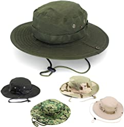 253b5321690 AYAMAYA Sun Protection Tactical Boonie Hat Quick Drying Fishing Hats for  Men Women