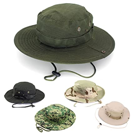 AYAMAYA Sun Protection Tactical Boonie Hat Quick Drying Fishing Hats for  Men Women b9314e68360