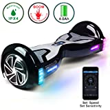 TOMOLOO Hoverboard with Bluetooth Speaker Smart Scooter Two-Wheel Self Balancing Electric Scooter and Lights - Black Hover Board with UL2272 Certified for 265 lbs MAX Weight …