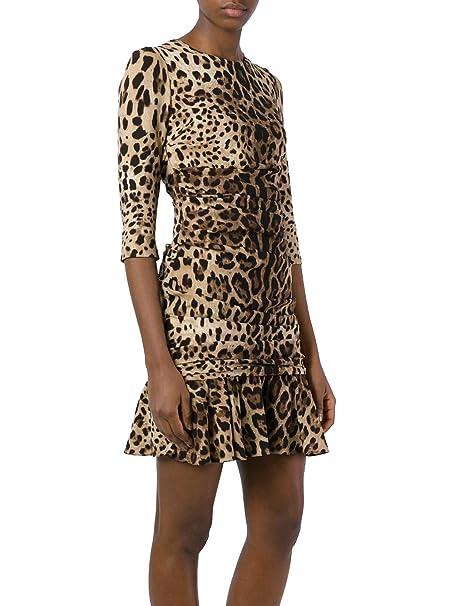 Dolce E Gabbana Vestito Donna F63L4TFSADDHK13M Seta Multicolor  Amazon.it   Abbigliamento 3d32b3d248b