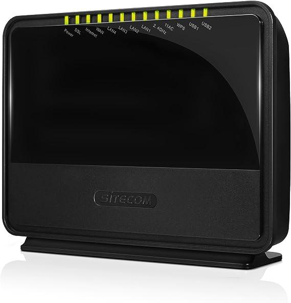 Sitecom WLM-7600 - Módem ADSL, Negro