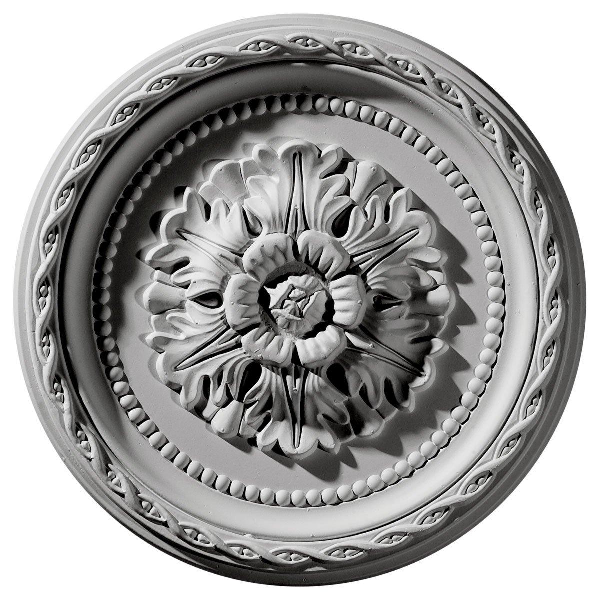 Ekena Millwork CM11PA 11 1/2-Inch OD x 1 1/2-Inch ID x 1-Inch Palmetto Ceiling Medallion