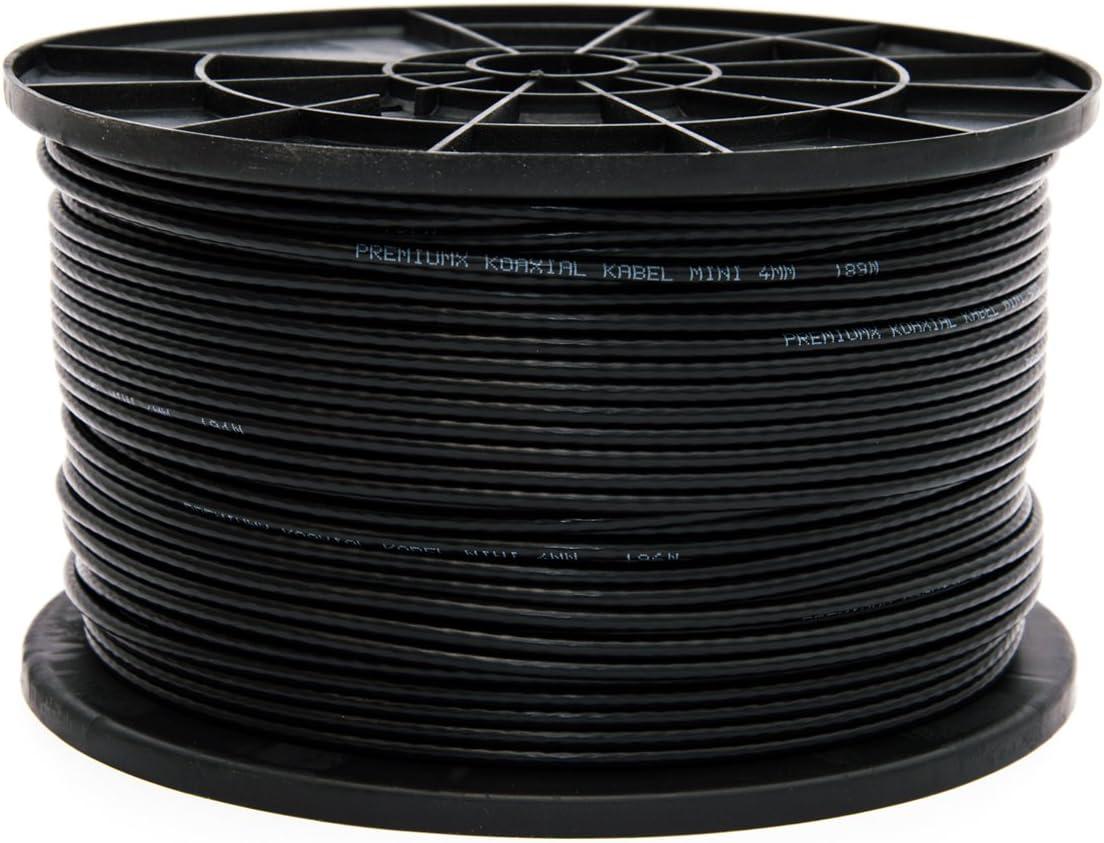 100 metros de cable coaxial para antena satélite de 90dB, en color negro, cable de antena FullHD HDTV, nuevo