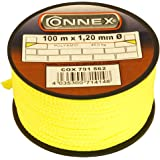 Connex COX781562 Mason's Lacing Cord, Yellow, 1.2 mm x 100 m