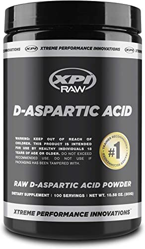 XPI Raw D-Aspartic Acid Powder 300 Grams, 100 Servings – Testosterone Support, Pure DAA Powder
