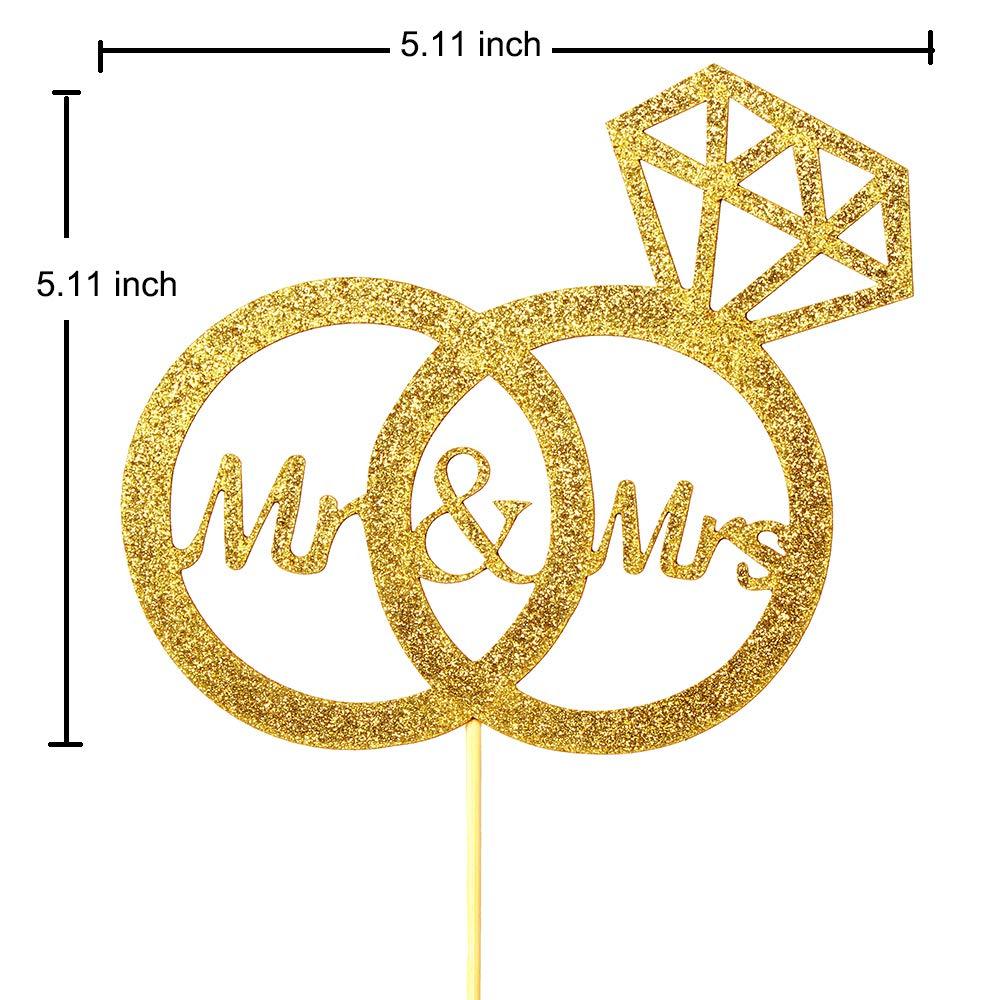 Mr Mrs Diamond Ring Wedding Engagement Cake Topper Mr /& Mrs Cake Topper