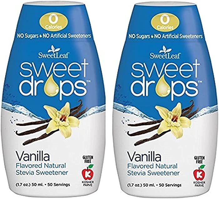 Sweet Leaf Sweet Drops Vanilla Flavor, 1.7 Fluid Ounce (2 pack)