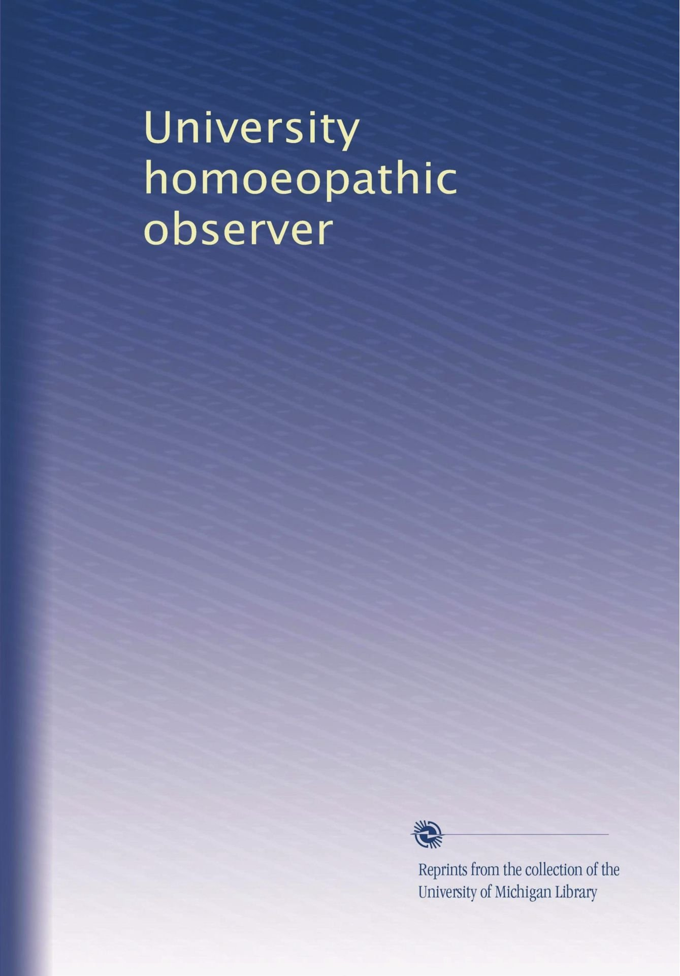 Download University homoeopathic observer pdf
