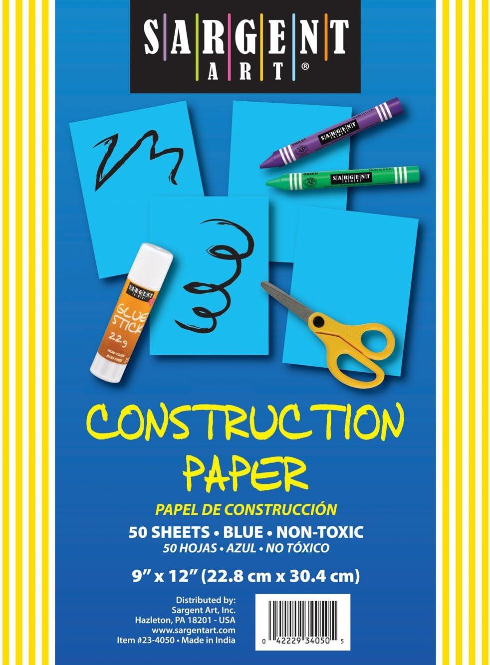 Blue Sargent Art 23-4050 50-Count Construction Paper