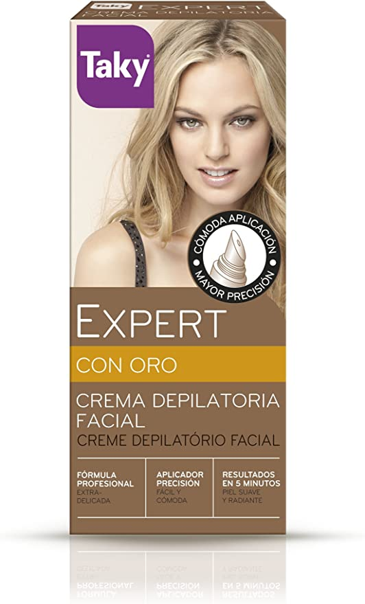 Taky Crema depilatoria facial oro - 20 ml: Amazon.es: Belleza