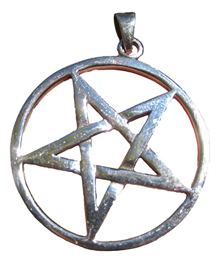 Amazon extra large 925 sterling silver wicca inverted pentagram extra large 925 sterling silver wicca inverted pentagram pendant necklace a2 aloadofball Choice Image