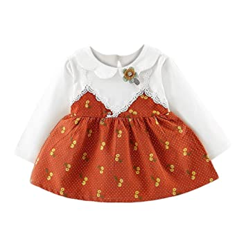3b84343605a2 squarex Toddler Kids Baby Girls Bowknot Clothes Long Sleeve Party ...