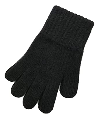 5e6b7782d4a Childrens 100% Lambswool Gloves - Made in Scotland (Black)  Amazon ...