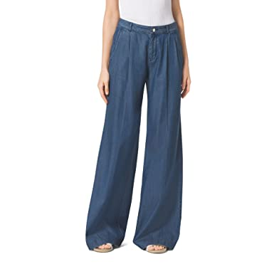 305b29d1 Michael Kors Chambray Wide-Leg Pants Trousers, Indigo, 2 at Amazon ...