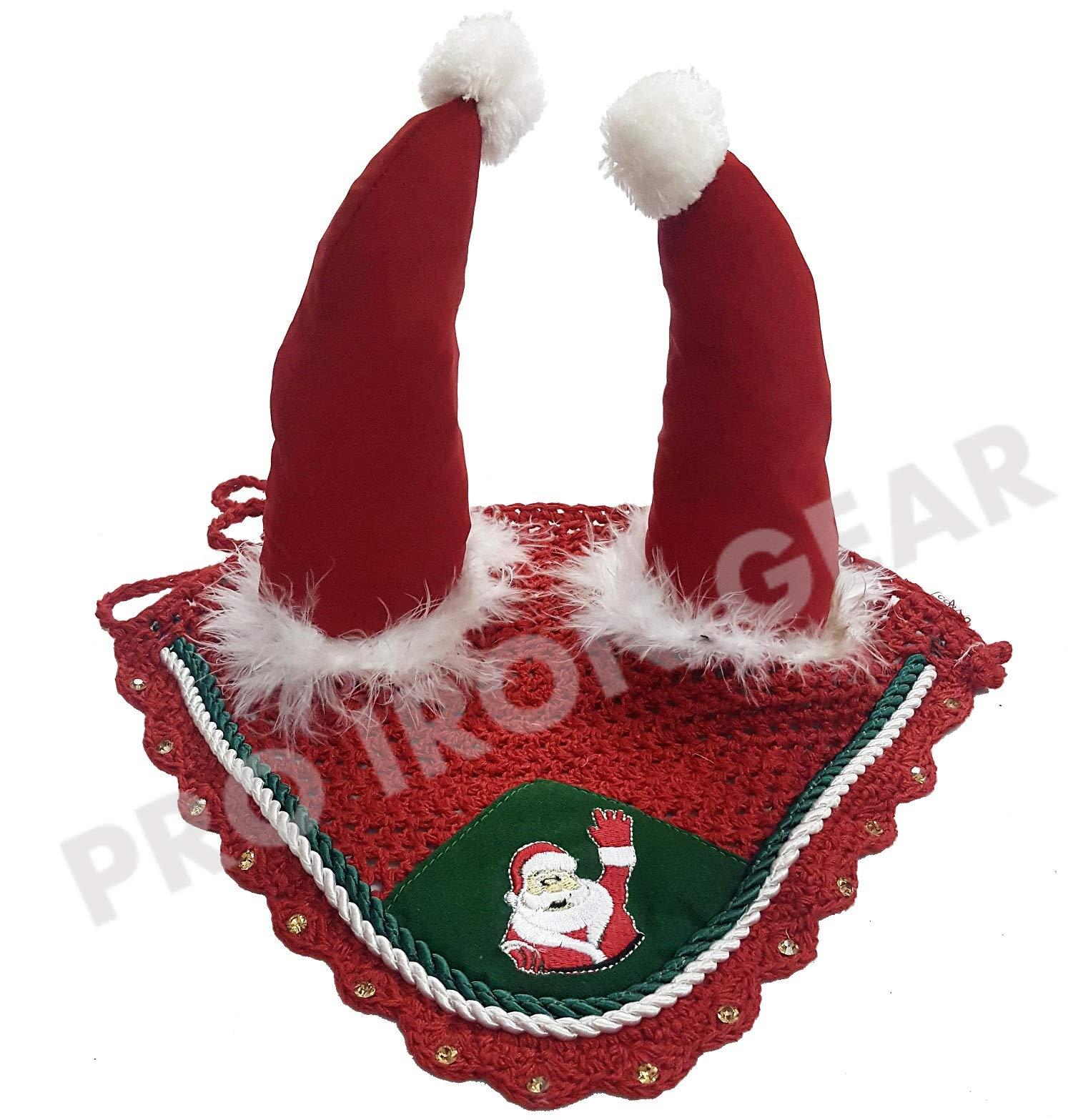 PRO IRON GEAR Santa Claus Horse Ear Bonnet/Net/Hat/Hood/Mask Fly Veil (Full) by PRO IRON GEAR