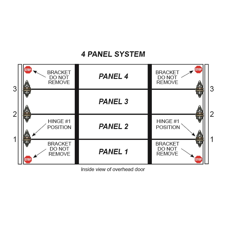 Garage Door Hinge Spring Loaded Self Sealing Energy Saver 4 Panel Commercial MFG# C4416-40