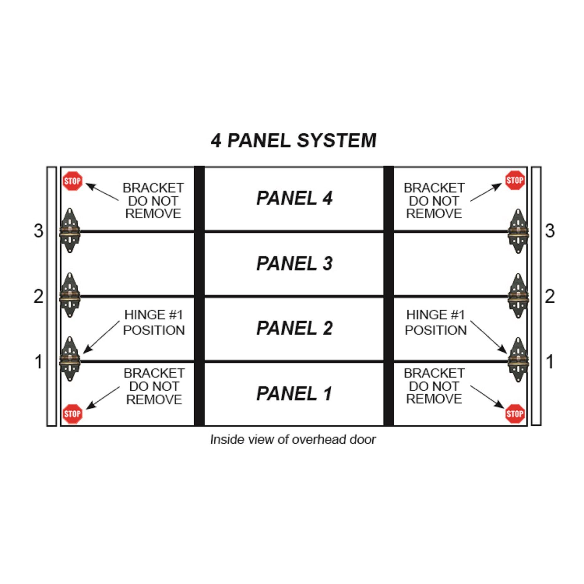Energy Saving Garage Door Hinge, Residential Set, 4 Panel Door by Green Hinge (Image #7)