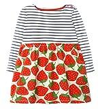 RJXDLT Baby Girls Dresses Flower Printed Bowknot