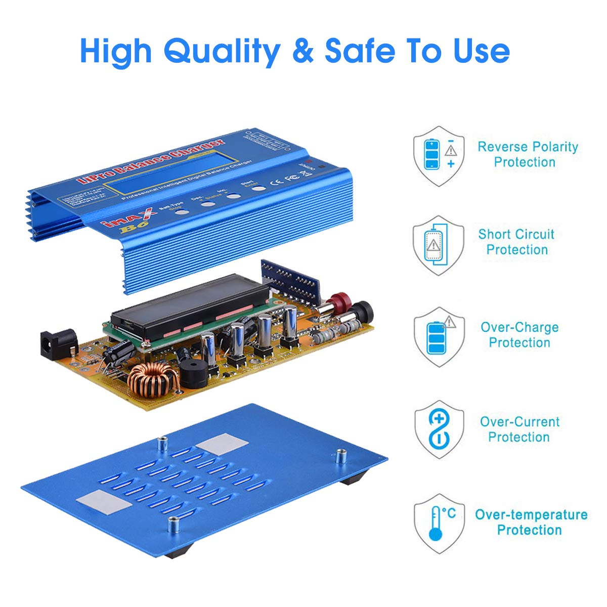 Battery Charger Adapter NiMH//NiCd 1-15S RC Battery Balance Discharger 80W 6A for LiPo//Li-ion//Life Battery Lipo Charger PB//Smart Battery 1-6S