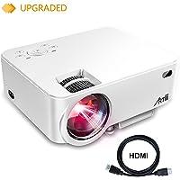 Artlii Retroprojecteur, Videoprojecteur Portable LED Soutien HD 1080p HDMI USB VGA AV SD,Projecteur de Cinéma Maison(Blanc)