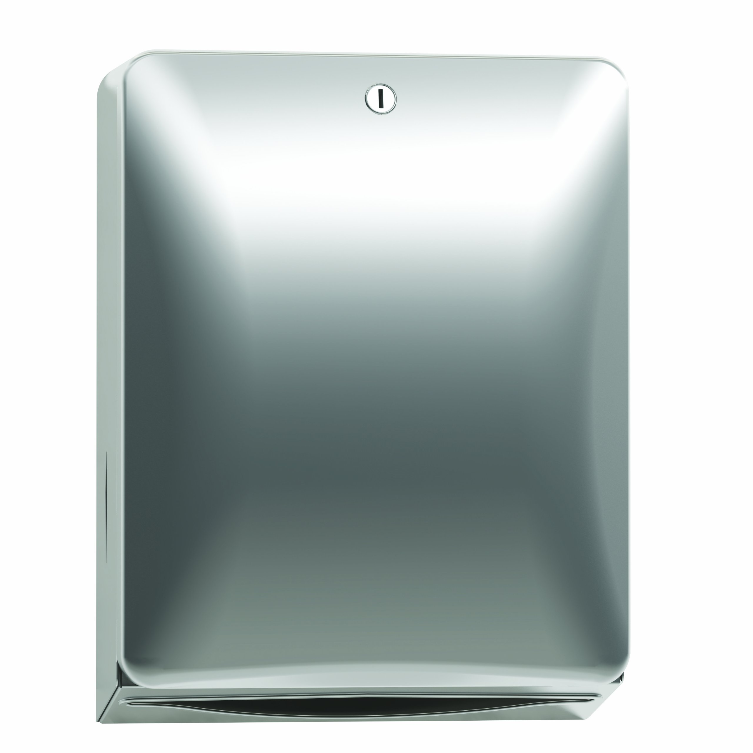 Bradley 2A10-110000 Diplomat Stainless Steel Surface Mounted Folded Paper Towel Dispenser, 11'' Width x 14-3/8'' Height x 5-1/4'' Depth