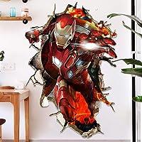 3D Wall Sticker Murals Iron Man Super Hero Captain America Hulk Modellen Avengers Decals Behang for Woonkamer Slaapkamer…
