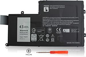 TECHEER 11.1V 43WH TRHFF Notebook Battery Compatible with DELL Inspiron 5447 5545 5547 5548 N5447 N5547 15-5000 Series i5547-3750sLV Latitude 14 3450 15 3550 DL011307-PRR13G01 1V2F6 01v2f6 0PD19 P39F