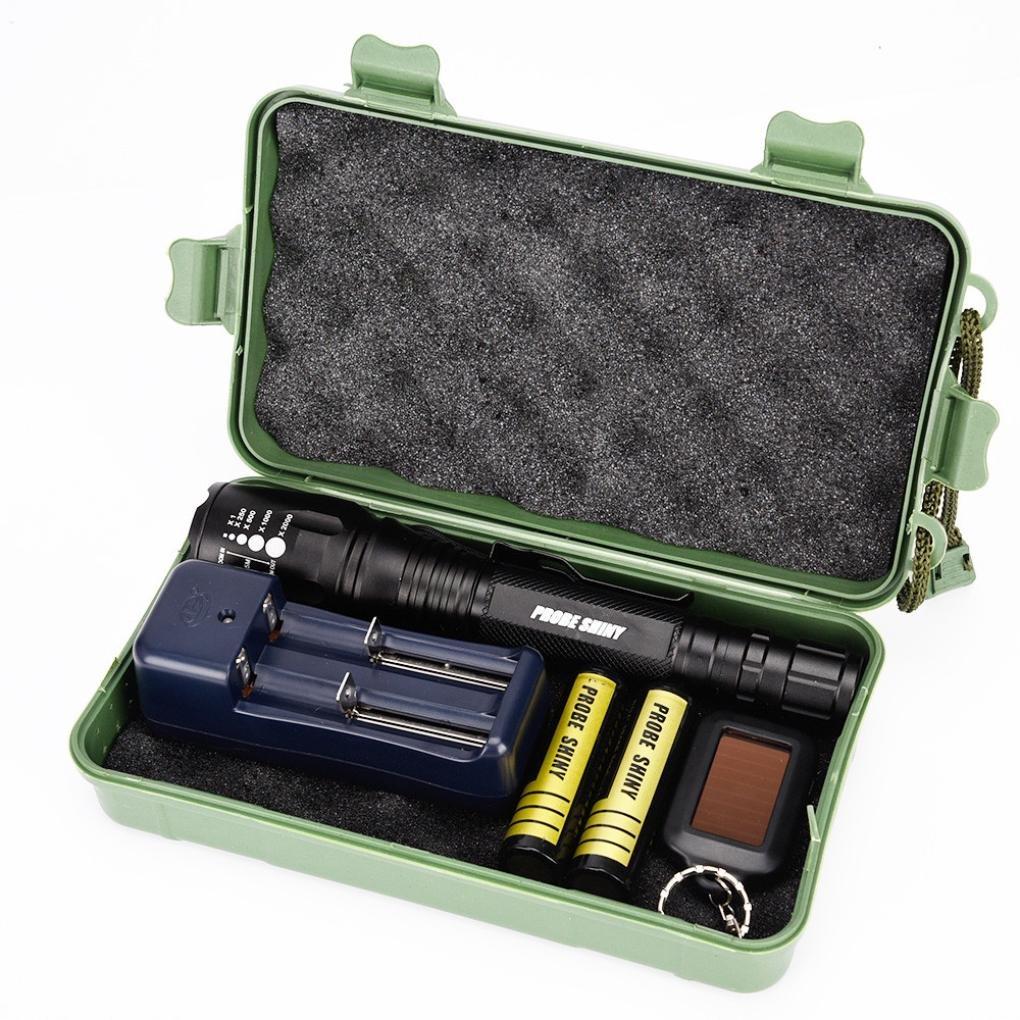 flashlight Set, Sandistore G700 X800 LED Zoom Military Grade Tactical Flashlight Torch (X800)