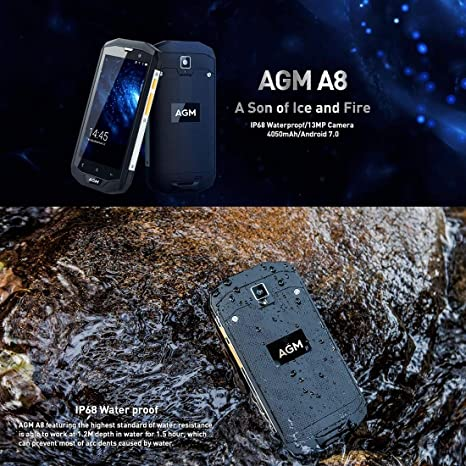 Teléfono móvil AGM A8 Triple Proofing Phone, 4GB + 64GB, 4050mAh ...